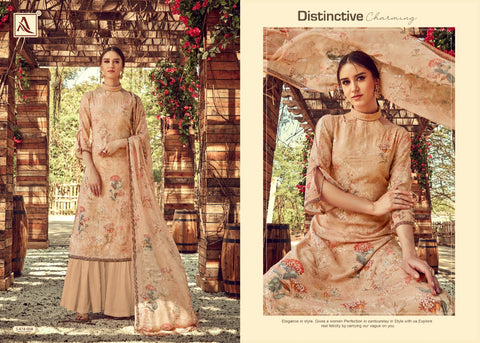 ALOK SUIT DHVANI GEORGETTE DIGITAL PRINT EMBROIDERY SAWLAR SUIT