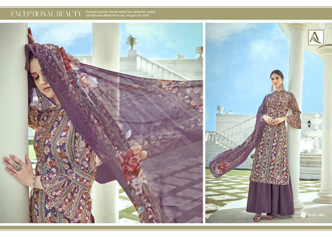 ALOK SUIT NITRA PURE CRAPE SUIT COLLECTION WITH FANCY EMBROIDERY