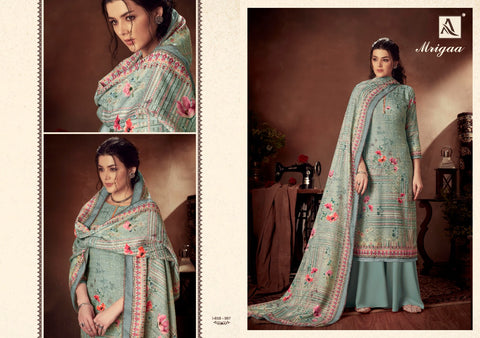 Alok Suit Presents Mrigaa Pure Pashmina Printed Fancy Designer Salwar Kameez