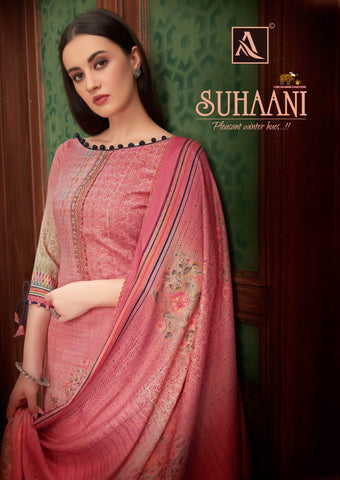Alok Suit Presents Suhani Pure Pashmina Fancy Designer Salwar kameez