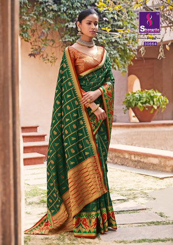 Shangrila Prints Present Amber Silk Saree Collection