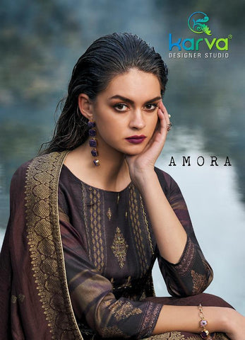 KARVA DESIGNER STUDIO PRESENTS AMORA JAM COTTON OCCASIONAL WEAR DRESS