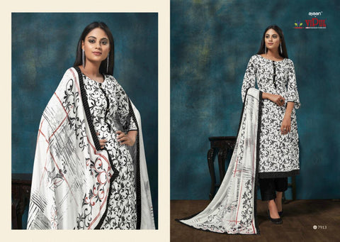 VIPUL FASHION AMYRAH OCCASIONAL WEAR DIGITAL PRINT CREPE DRESS MATERIAL