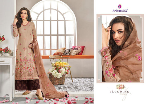 ARIHANT PRESENTS ANAYA BEAUTIFUL DESIGNED MUSLIN SILK KURTI WITH PLAZO