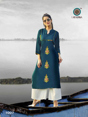 ARADHNA QUEEN VOL 2 STRAIGHT DAILY WEAR KURTI COLLECTION