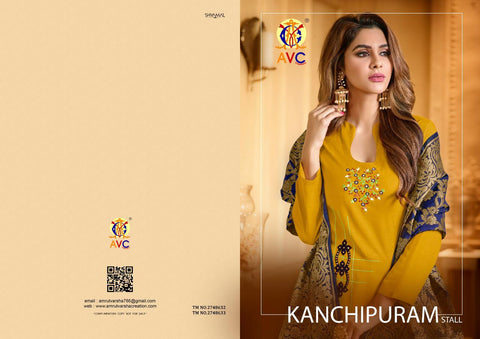 AVC Kanchipuram Stall Heavy Cotton Fancy Designer Salwar Suit
