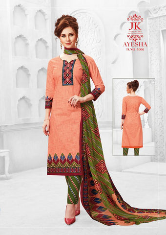 JK COTTON CLUB LAUNCHES AYESHA VOL.4 PURE COTTON DAILYWEAR SUITS