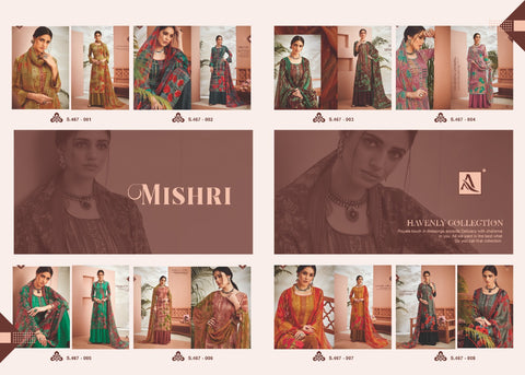 Alok Suits Mishri Viscous Digital Embroidery Rayon Printed Dress Material