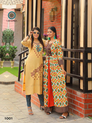 Aradhana Mashup Kurti With Plazzo Gown Collection In Wholesale