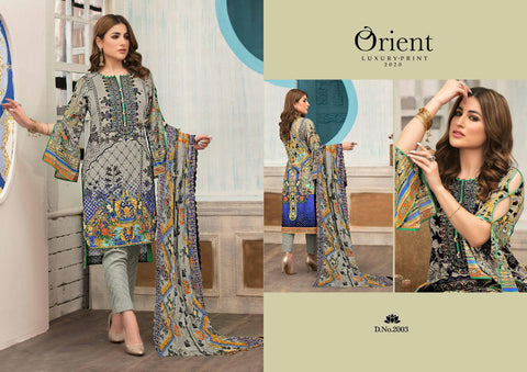 Orient Luxury Print Pure Cotton Georgette Pakistani Salwar Suit Collection