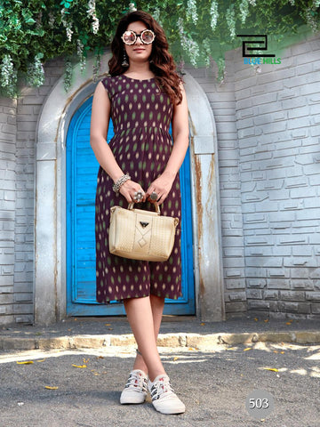 Blue Hills Presents Ikkat Vol 5 Rayon Casual Wear Kurtis Collection