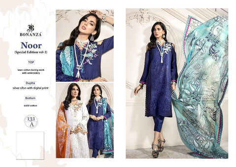 Bonanza Noor Special Edition Vol 2 Cotton Casual Heavy Embroidery Salwar Kameez