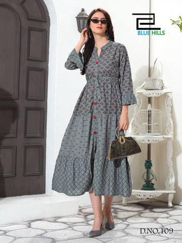 Blue Hills Presents Bournville Rayon Designer Kurti Collection