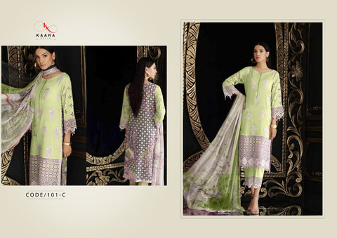KAARA SUIT CHARIZMA COLOUR COTTON WITH EMBROIDERY WORK SALWAR SUIT