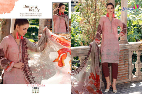 Saniya Trendz Charizma Vol 3 Jam Satin Embroidered Pakistani Collection