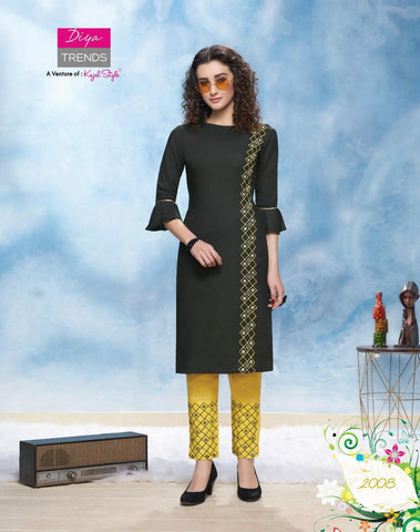 Diya Trendz Forever Vol 2 Ethnic Rayon Kurti Collection In Wholesale
