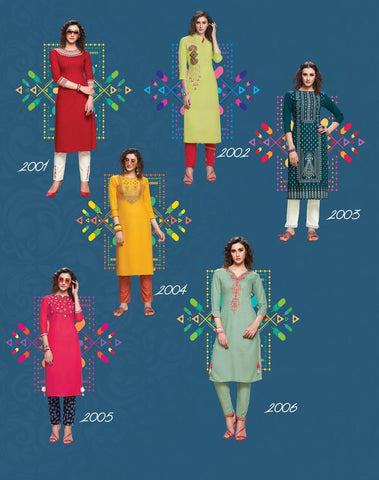 Diya Trendz Forever Vol 2 Ethnic Rayon Kurti Collection In Singles