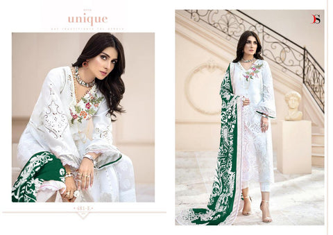 Deepsy Suits Maira B Gold Embroidery Cotton Pakistani Work Suits
