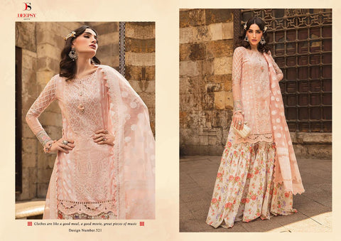 Deepsy Suits Maria B Lawn 2020 Embroidered Cotton Print Pakistani Work Salwar Suit