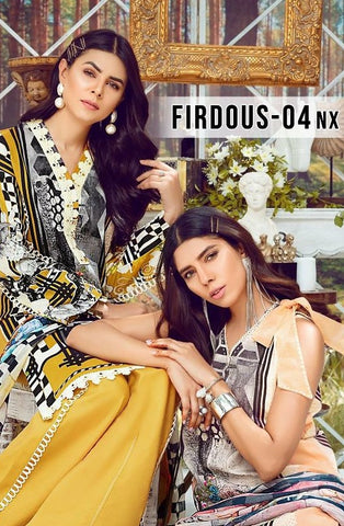 Deepsy Suits Firdous Vol 4 Nx Pure Cotton Embroiderey Printed Pakistani Salwar Suit