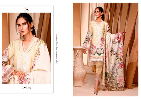 Deepsy Suit Firdous Vol 5 Cotton EmbroiderY Printed Pakistani Collection In Wholesale