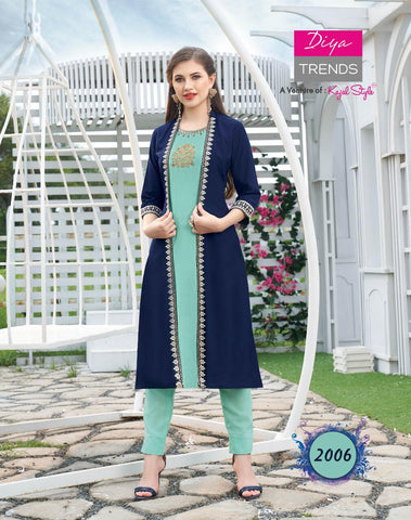 Fashion Angel Vol 2 Fancy Rayon Fabric Designer Kurties Collection