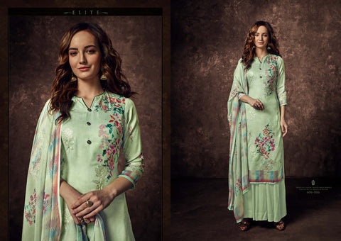 BELLIZA ELITE PURE JAM COTTON DIGITAL PRINT DRESS MATERIAL EMBROIDERY