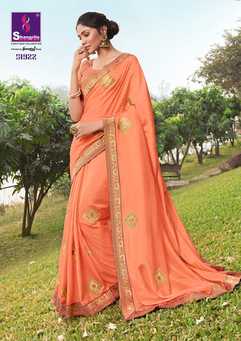 Fashion Frame Shangrila Soft Dolla SIilk  Embroidery Work Sarees