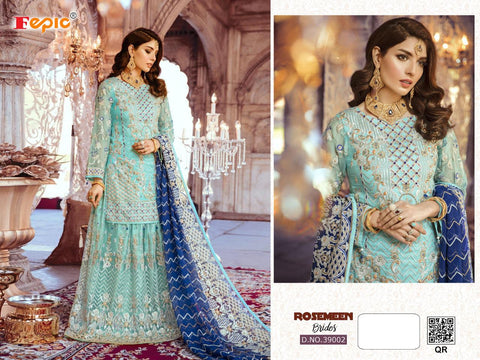 FEPIC ROSMEEN BRIDES HEAVY WEDDING EMBROIDERY GEORGETTE SUIT