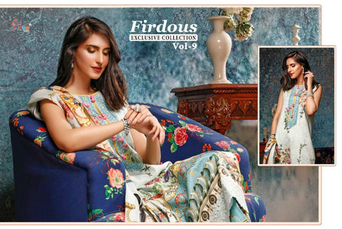 Shree Fabs Firdous Exclusive Collection Vol 9 Embroidery Pakistani Collection