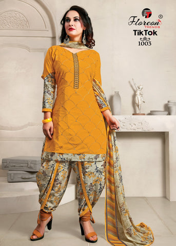 FLOREON TRENDS PRESENTS TIK TOK SALWAR SUIT WITH FANCY EMBROIDERY