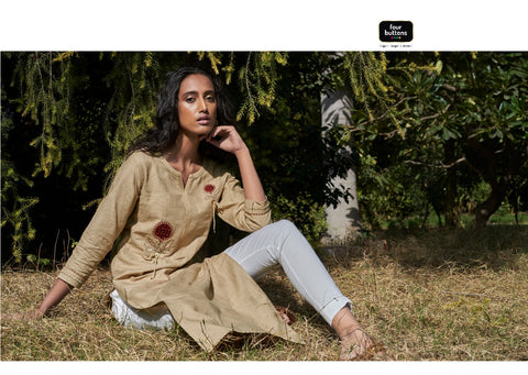 Four Buttons Colours 8 Heavy Pure Cotton Daily Wear Kurti Collection