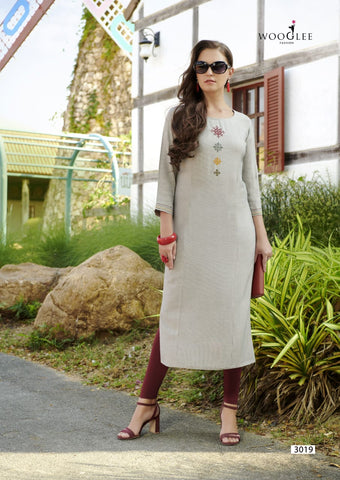 Wooglee Four Dhaga Rayon Casual Collection Kurti
