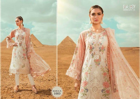 Fairlady Maria B Lawn Embroidery Premium Collection Pakistani Wear Suits