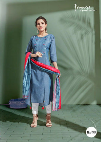 Feminista Stylish Denim Collection Of Kurti