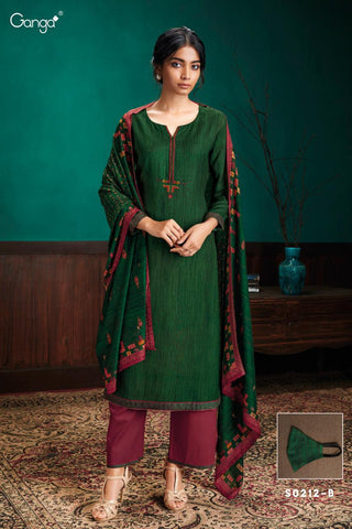 Ganga Launched Simran 212 Pure Pashmina Heavy Embroidery Work Fancy Designer Salwar Suits