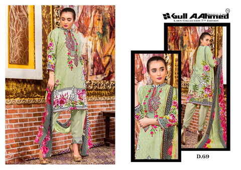 Gul Ahmed Vol 7 The Original Lawn Collection Pakistani Suits