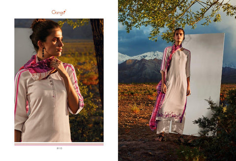 All Hues C By Ganga Sattin Cotton Suits Collection