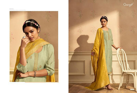 GANGA PRESENT RAAG PURE SILK WITH EMBROIDERY HEAVY LOOK SALWAR SUIT