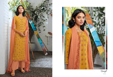 Ganga Suit Seraphina Cotton Printed Sarovaski Embroidered Work Salwar Suits