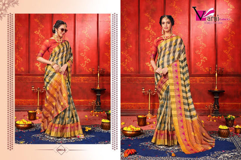 Hansika Silk Fabric Desginer Party Wear Saree Collection