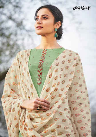 Jay Vijay Hiraya Cotton Emrboiderey Work Designer Salwar Suits