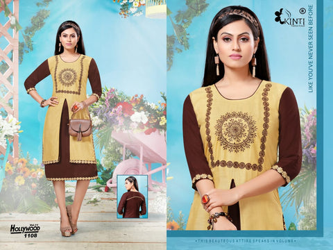 KINTI PRESENTS HOLLYWOOD VOL.11 RAYON SLUB DAILYWEAR FANCY KURTI