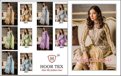 HOOR TEX NAFIYA COLOUR GOLD VOL.7 PAKISTANI CONCEPT DRESS MATERIAL