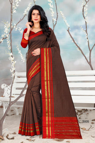 Hraj Shlmla Cotton Silk Fancy Wear Saree