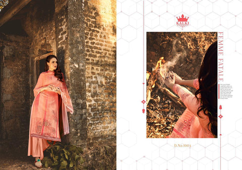 Kalki Fashion Hrida Jam Silk Cotton Digital Printed Salwar Kameez
