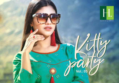 Hirwa Kitty Party Vol 5 Cotton Anarakali Kurties Collection