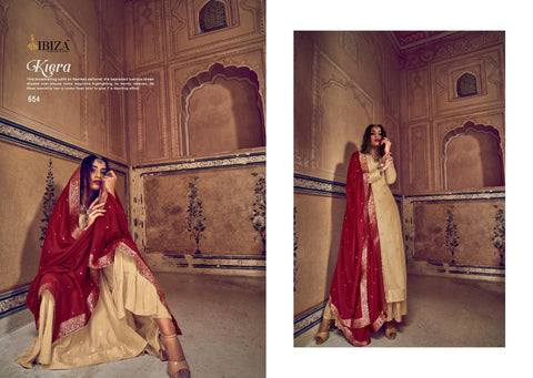 Ibiza Presents Saba Pure Silk Jecquard Fancy Designer Salwar Kameez