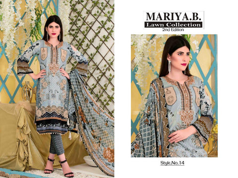 Mariya B Lawn 2nd Edition Lawn Pakistani Collection Suits
