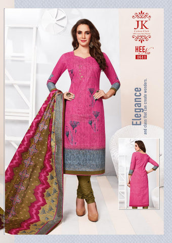 JK HEENA VOL 16 CLASSIC COTTON DRESS MATERIAL COLLECTION